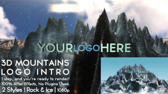 VideoHive 3D Mountains Logo Intro 3315218