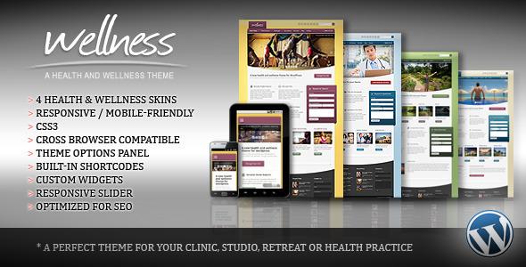 ThemeForest Wellness A Health & Wellness WordPress Theme 3003585