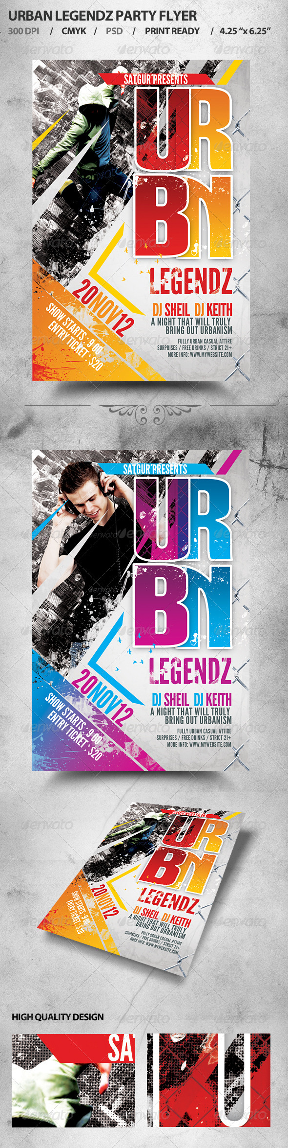 Urban Legendz Party Flyer - Clubs & Parties Events