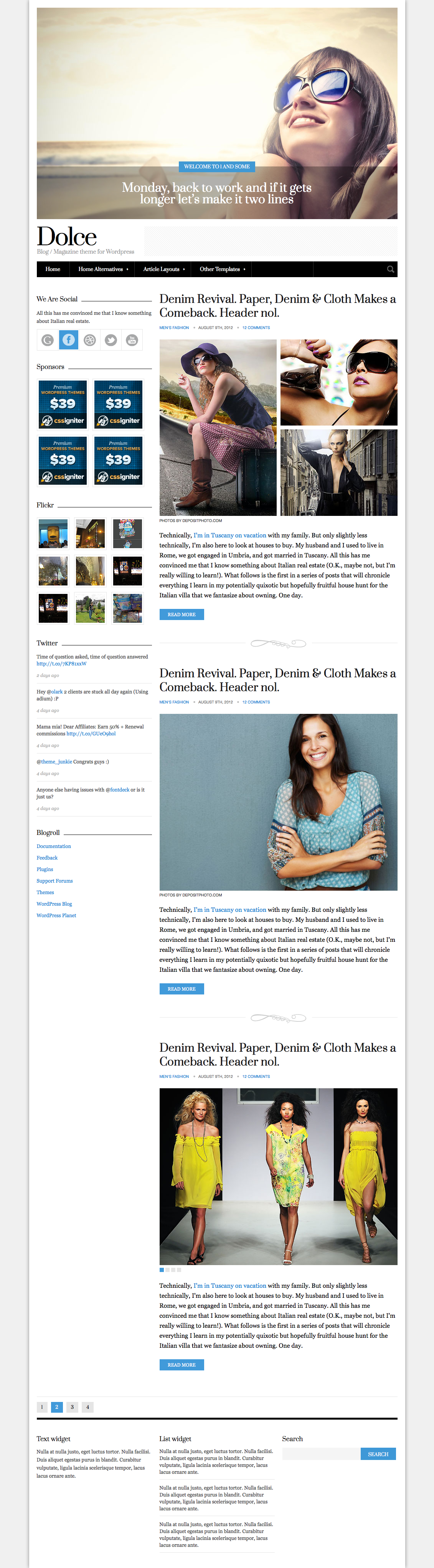 Dolce - Magazine / Blog Site Template