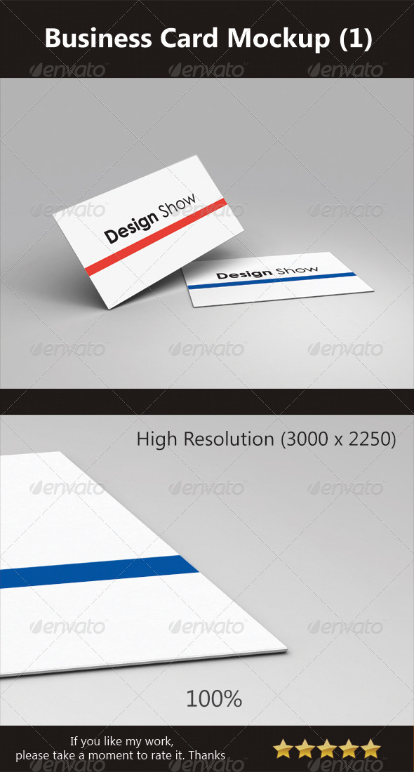 GraphicRiver Business Card Mockup 1 3317007