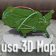 USA 3D Map With Arrows
