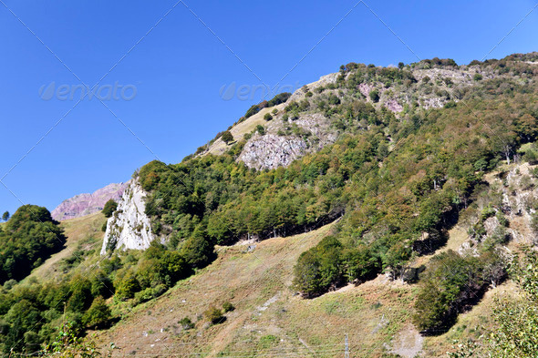View of the Pyrenees Mountains - Stock Photo - Images