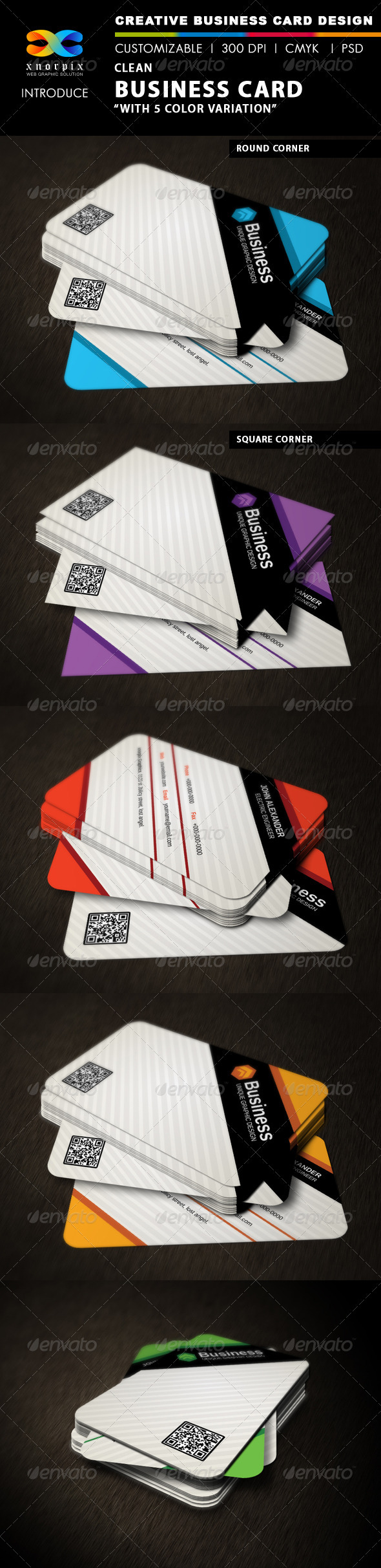 GraphicRiver Clean Business Card 3330855