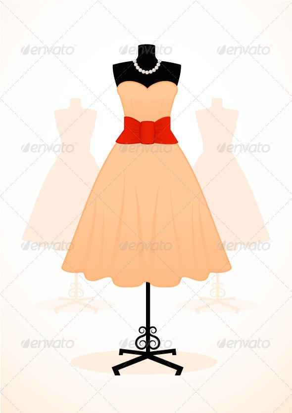 GraphicRiver Vintage Dress 3330856