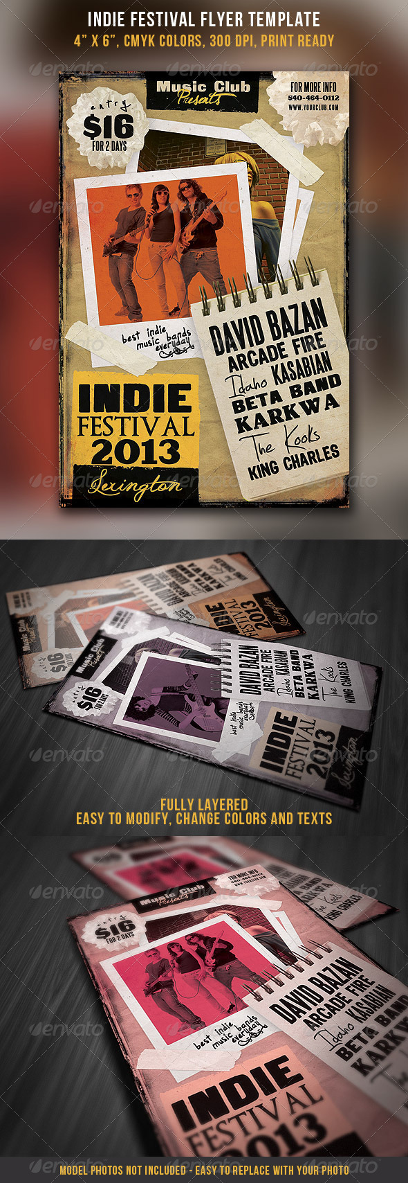Indie Festival Flyer Template - Concerts Events