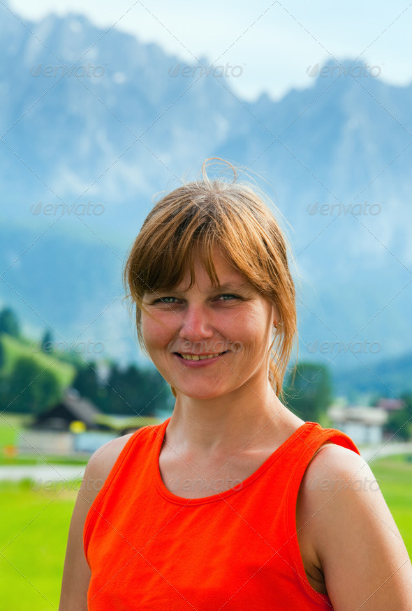 Alps summer view - Stock Photo - Images