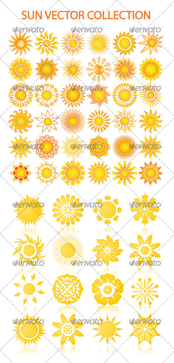 GraphicRiver Sun vector collection 3331010
