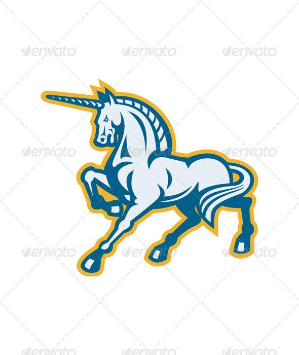 Unicorn Prancing Side View