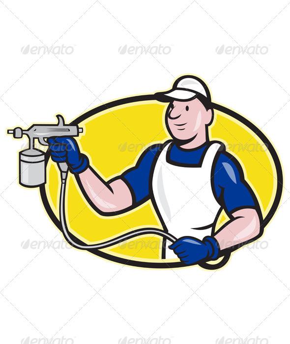 Paint Gun Logos Paint Gun Logo Spray Painter