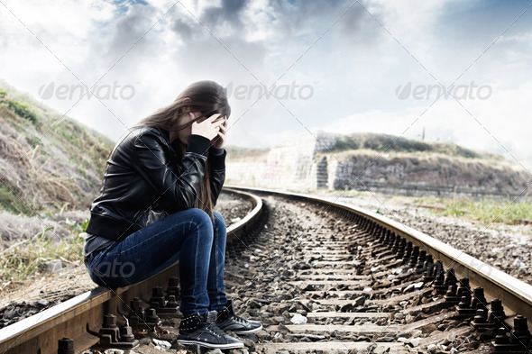 Depressed Teenage Girl - Stock Photo - Images