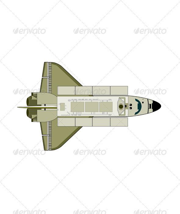 GraphicRiver Space Shuttle Aircraft Retro 3331244