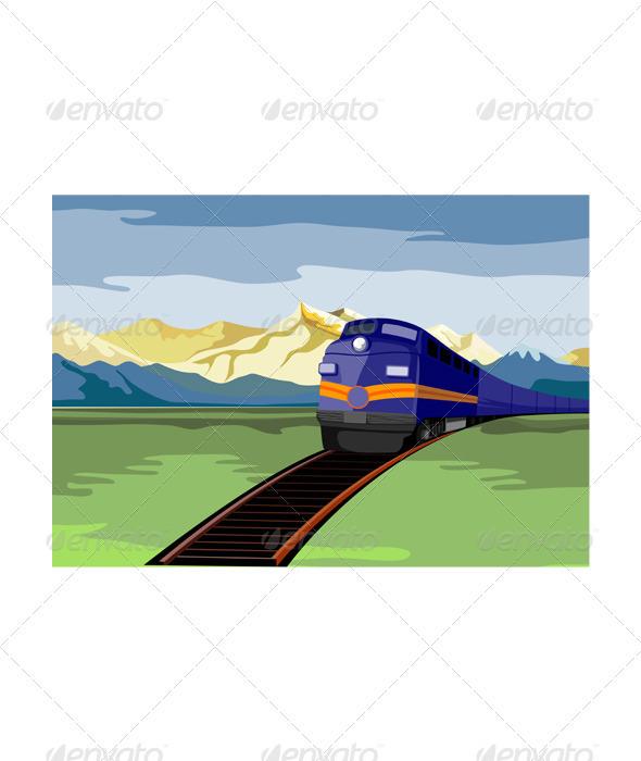 GraphicRiver Diesel Train Retro 3331267