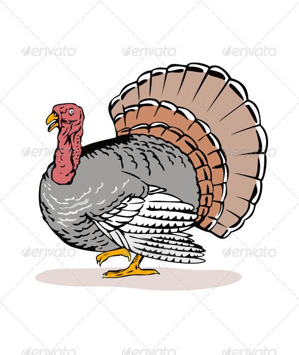 GraphicRiver Wild Turkey Retro 3331274