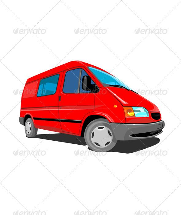 GraphicRiver Closed Delivery Van Retro 3331275
