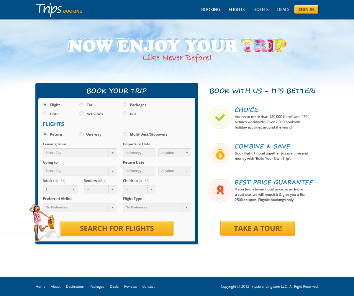 Trips Booking Template