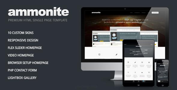ThemeForest Ammonite Single Page Portfolio Template 3331316
