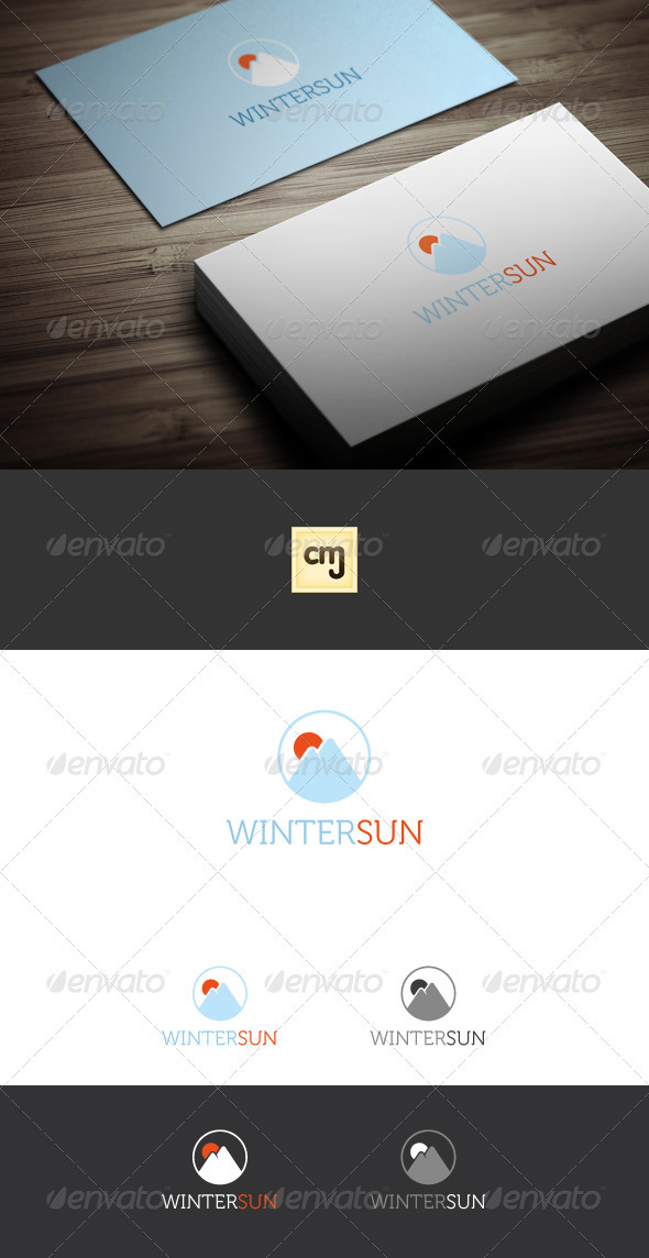 Winter Sun Logo Template - Nature Logo Templates
