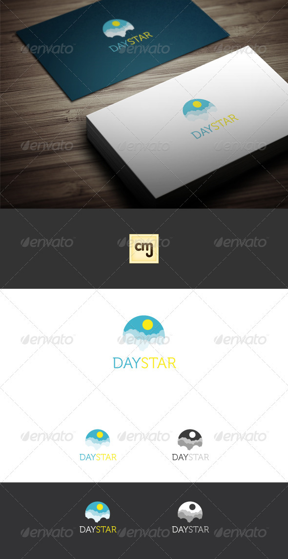 GraphicRiver Day Star Logo Template 3331663