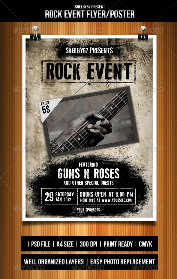 GraphicRiver Rock Event Flyer Poster 3318256