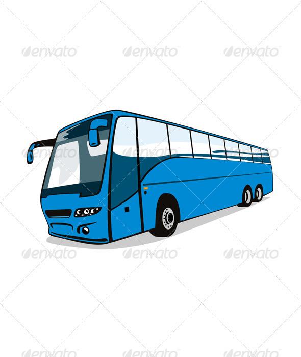 GraphicRiver Shuttle Coach Bus Retro 3331781