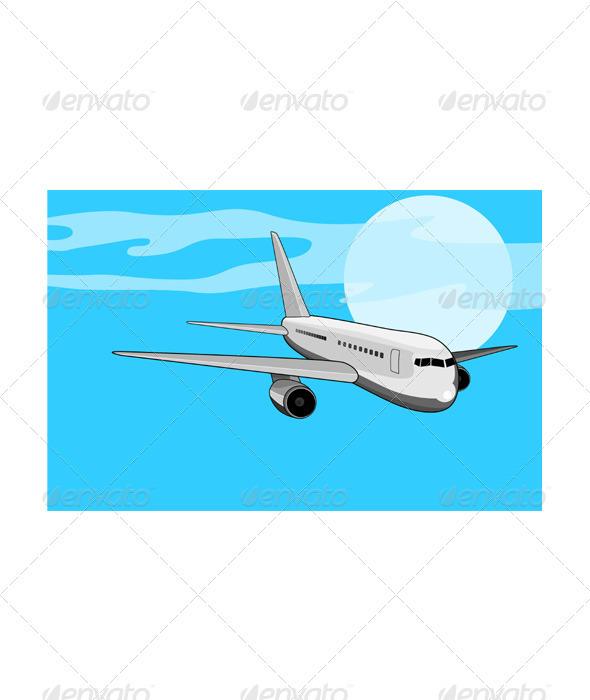 GraphicRiver Commercial Jet Plane Airline Ret 3331816
