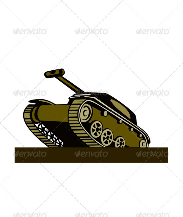 GraphicRiver World War Two Battle Tank 3331848