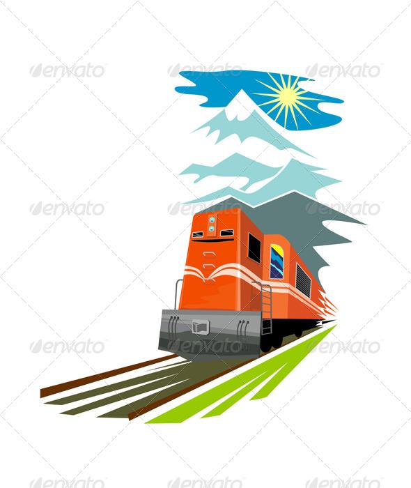 GraphicRiver Diesel Train Retro 3331859