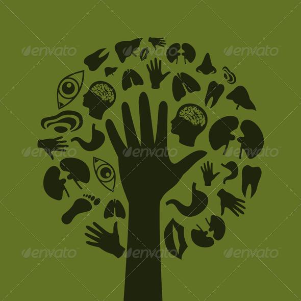 GraphicRiver Hand a tree3 3332062
