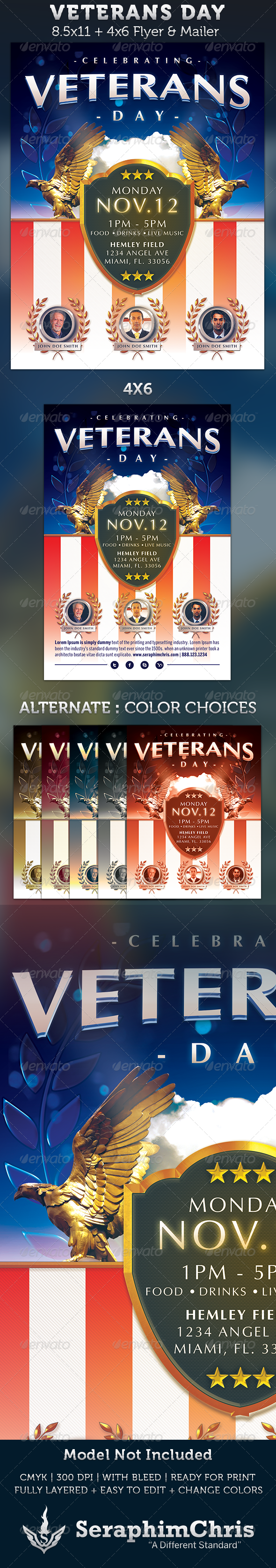 GraphicRiver Veterans Day Flyer Template 3332193