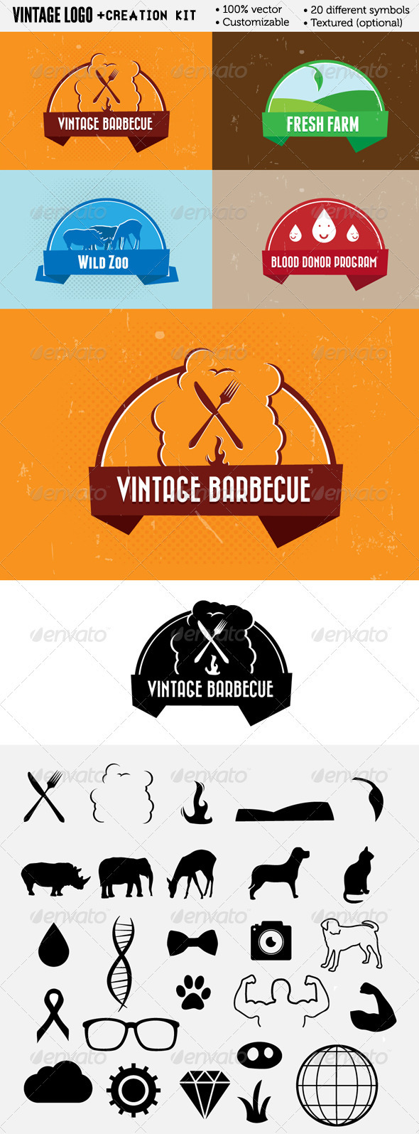 GraphicRiver Vintage logos & Creation kit 3332197