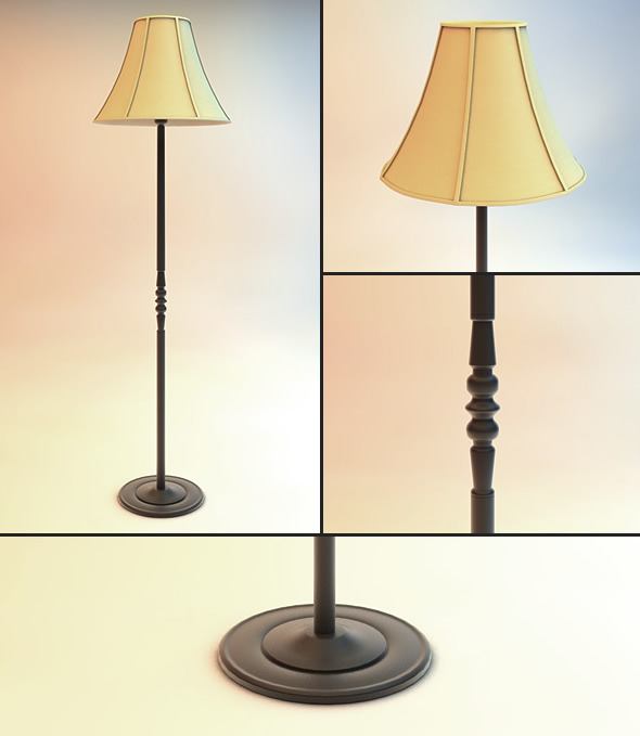Eldshult Floor Lamp - 3DOcean Item for Sale
