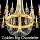 Golden Big Chandelier 24 lights