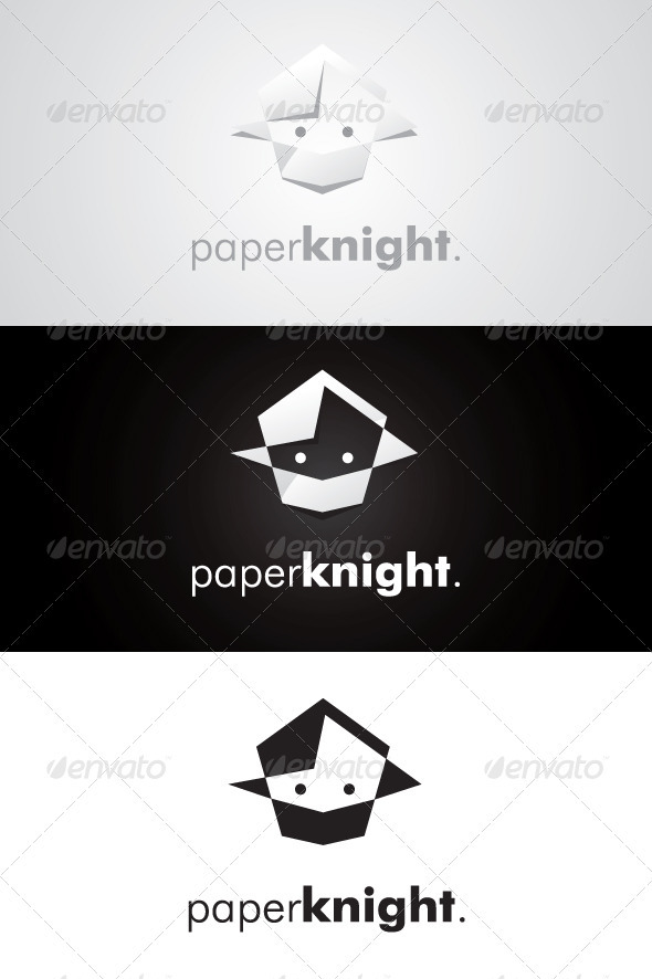 GraphicRiver Paper Knight Logo 3334141