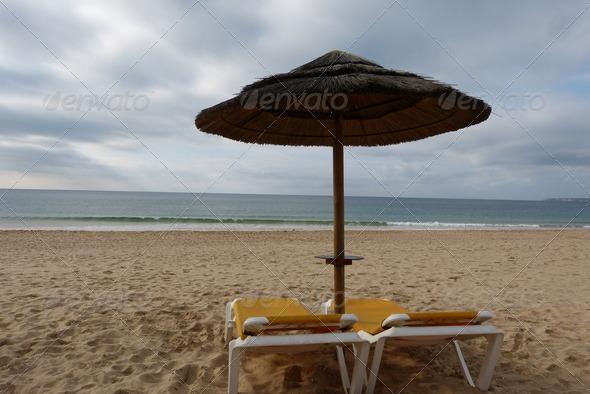 Beach Umbrella - Stock Photo - Images