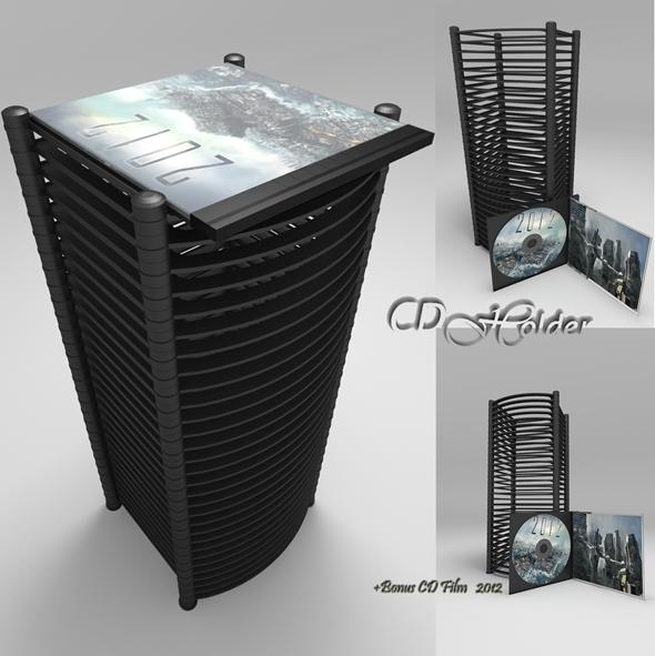 CD Holder + Bonus - 3DOcean Item for Sale