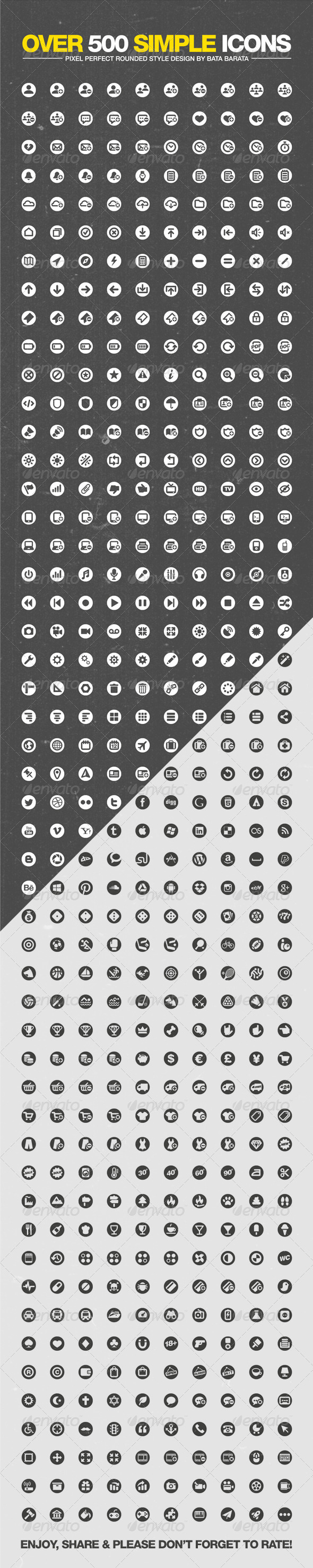 GraphicRiver Over 500 Simple Icons 3334758