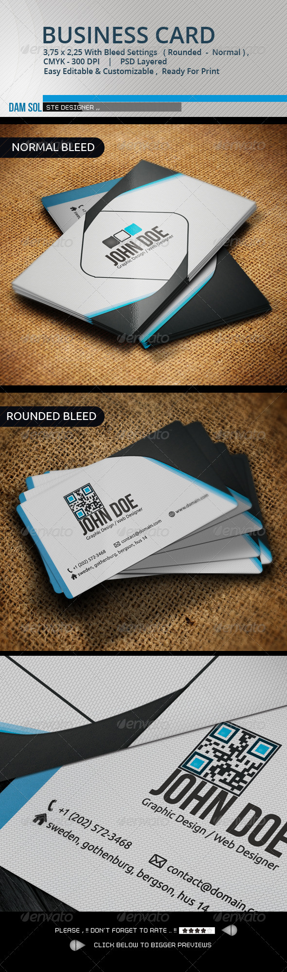 GraphicRiver Creative Business Card 3334928
