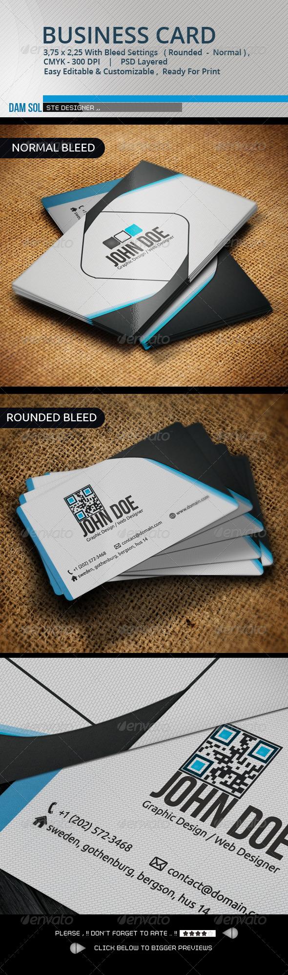 GraphicRiver Creative Business Card 3334928