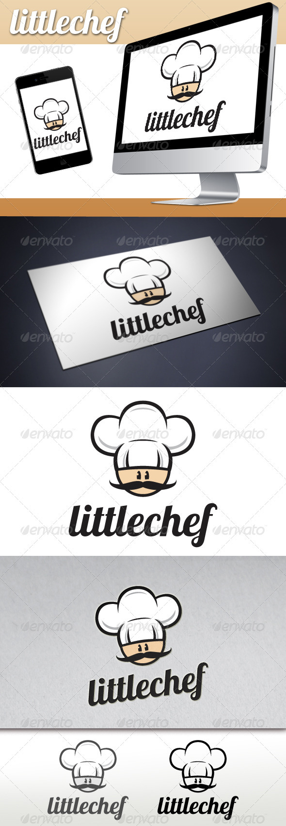 GraphicRiver Little Chef Restaurant Bistro Logo 3334962