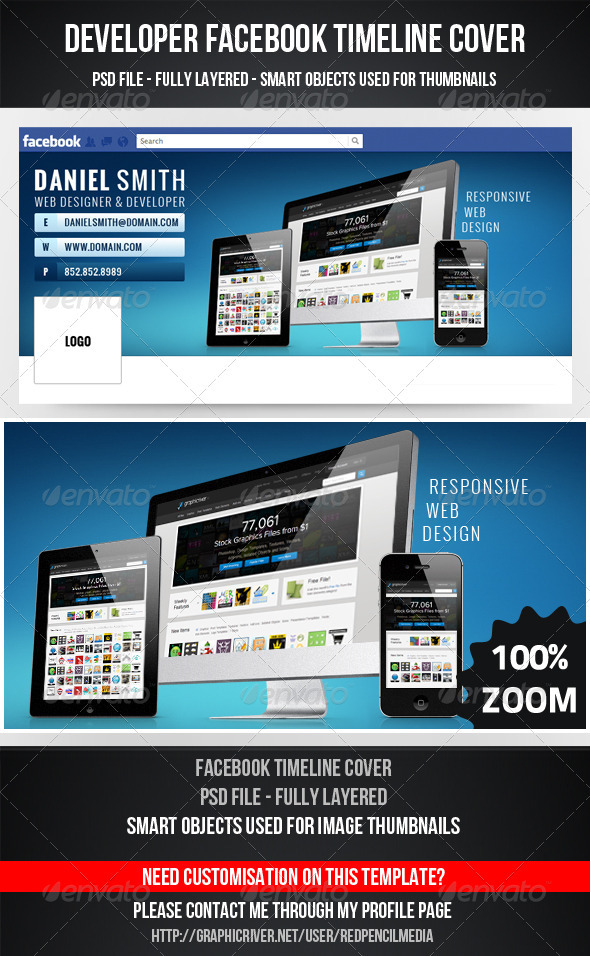 GraphicRiver Developer FB Timeline Cover 3335502
