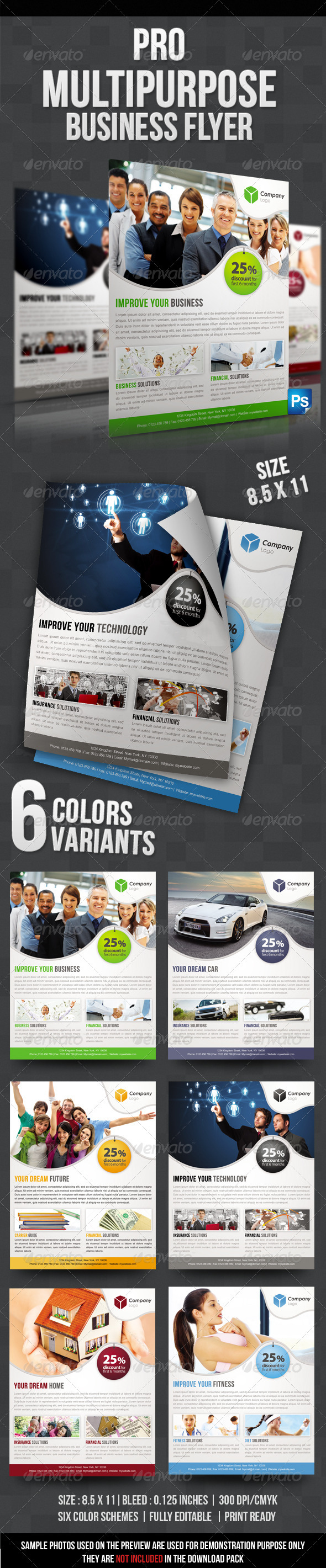 GraphicRiver Pro Multipurpose Business Flyer 3316928