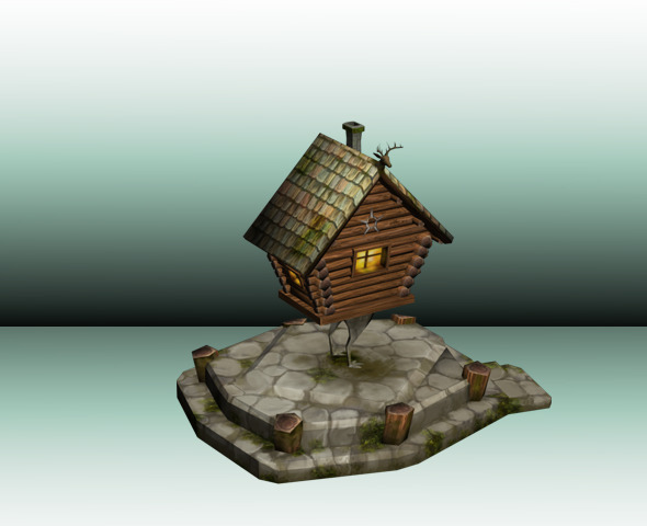Witch's House Low Poly - 3DOcean Item for Sale