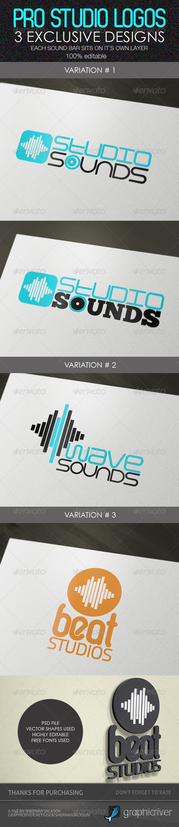 Pro Studio Logos - Abstract Logo Templates