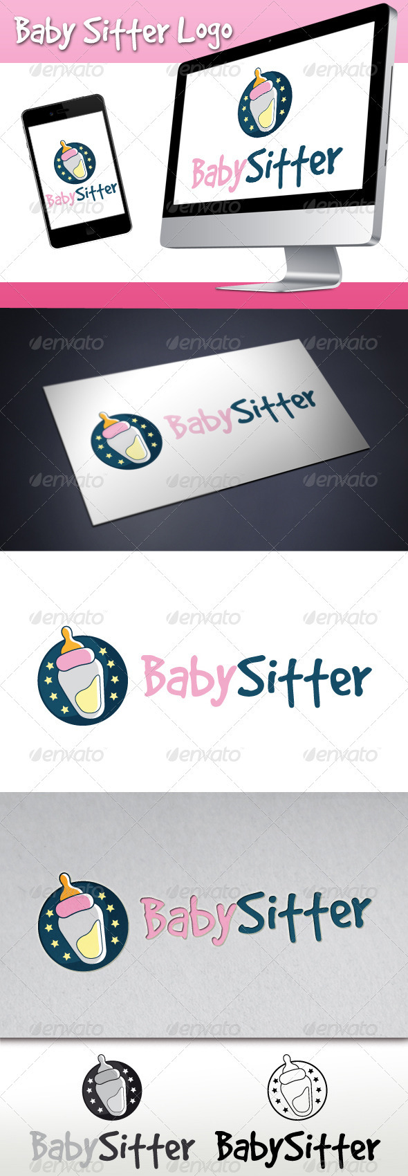 GraphicRiver Baby Sitter Logo 3336267