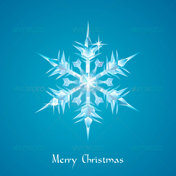 GraphicRiver Christmas snowflake greeting 3336559