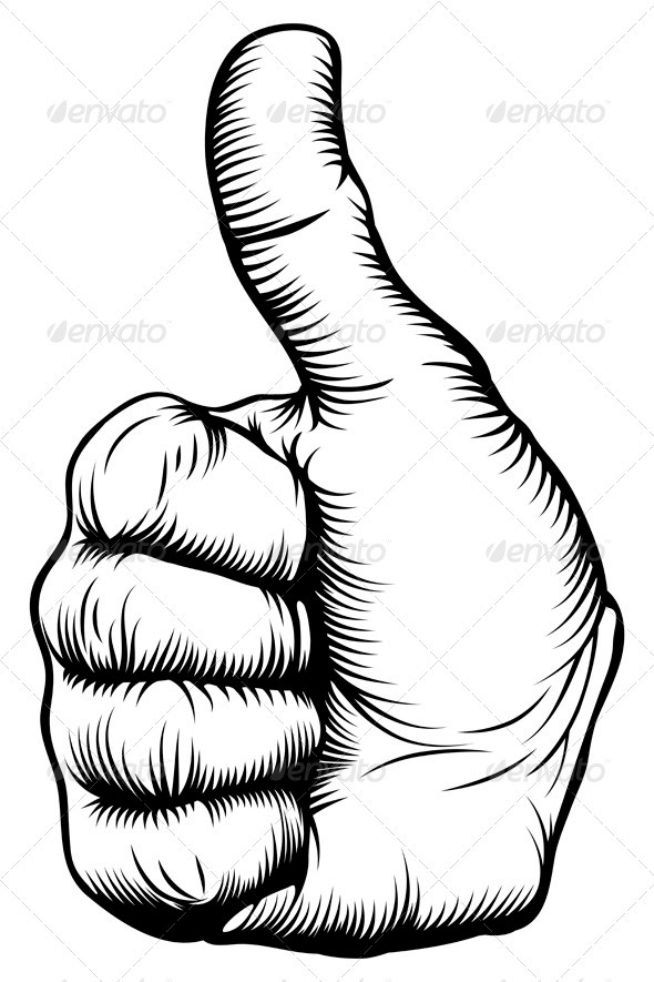 GraphicRiver Thumbs up hand 3336566