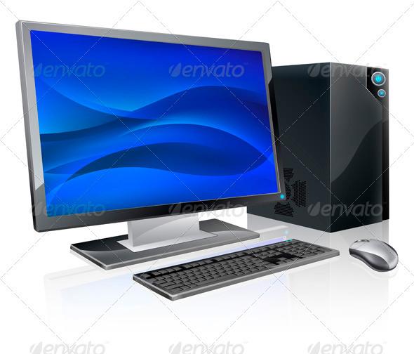 GraphicRiver Desktop PC computer workstation 3336568