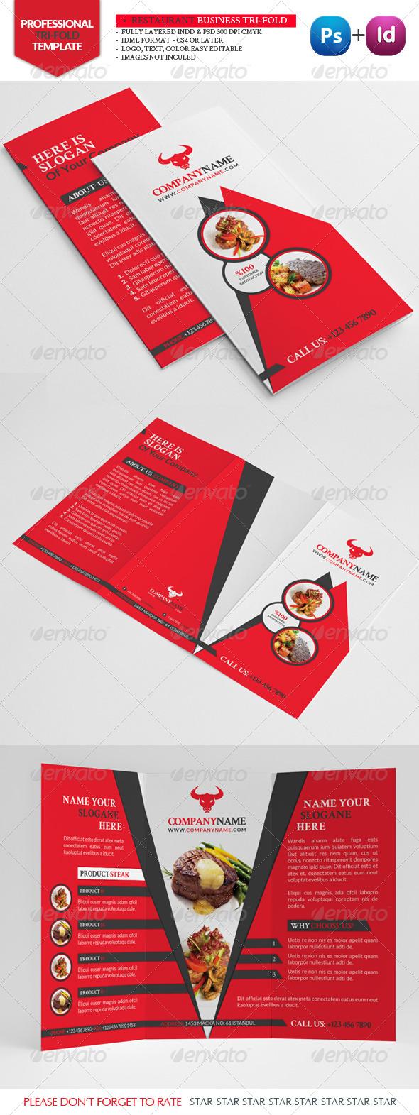 GraphicRiver Restaurant Business Tri-Fold 3325066