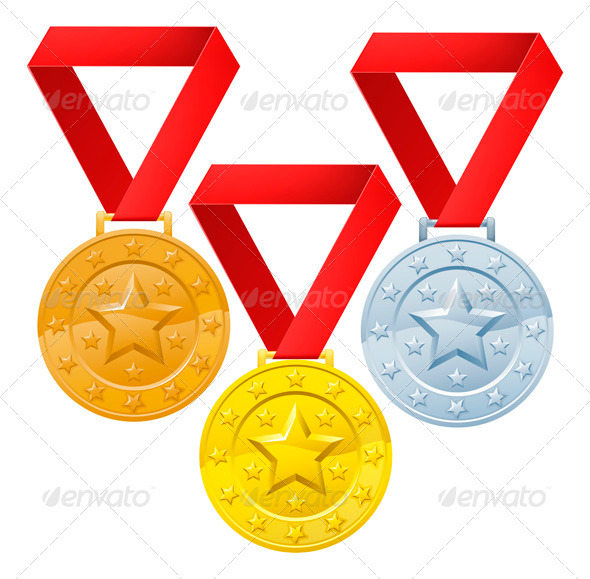 GraphicRiver Winners medals 3336609
